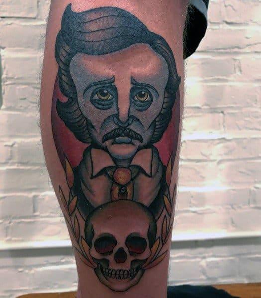 Awesome Edgar Allan Poe Tattoos For Men