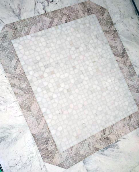 Awesome Entryway Tile Moasic Pattern White Ideas