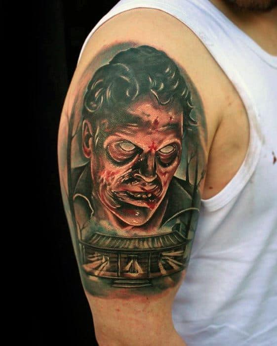 Awesome Evil Dead Tattoos For Men