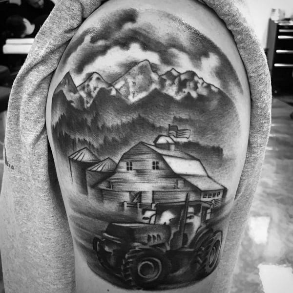 Awesome Farming Tattoos For Men