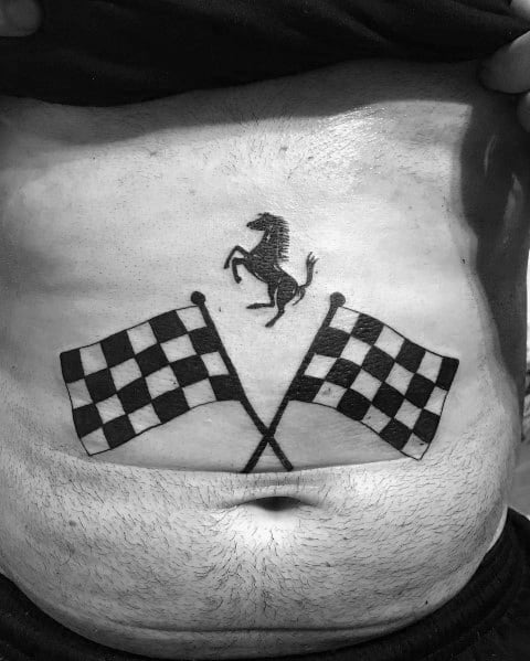 Awesome Ferrari Tattoos For Men