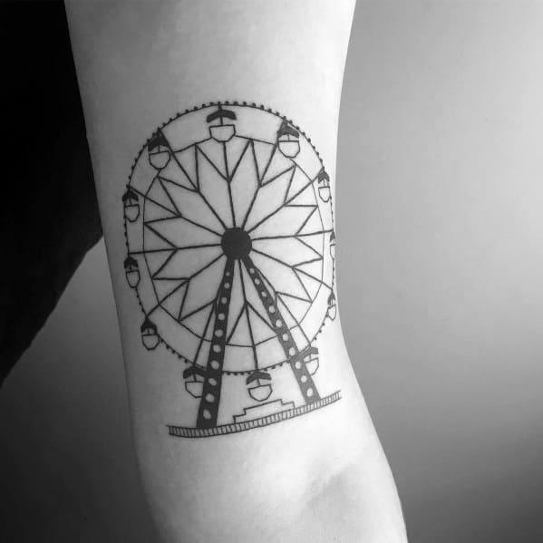 Awesome Ferris Wheel Tattoos For Men