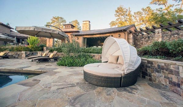 Awesome Flagstone Patio Ideas With Pool