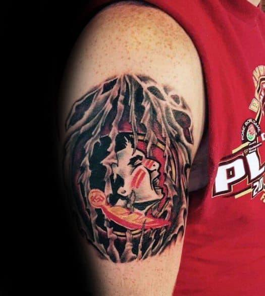 Awesome Florida State University Arm Fsu Tattoos For Men