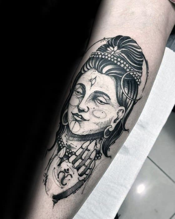 7b87c0154 Awesome Forearm Shiva Tattoos For Men. Back Outline Shiva Guys Tattoo  Designs