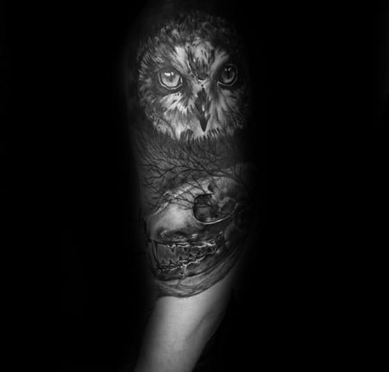 Awesome Fox Skull Tattoos For Men