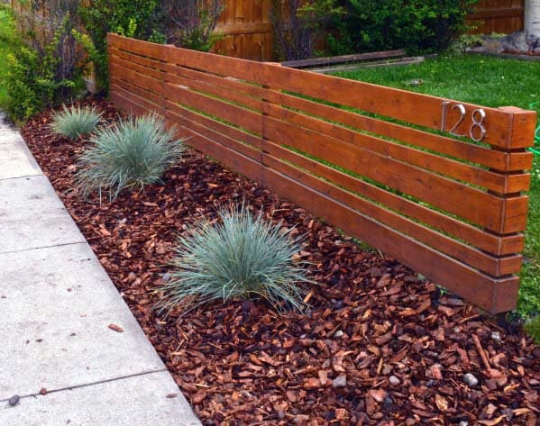 Awesome Front Yard Fence Ideas Modern Wood
