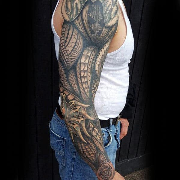Awesome Gentlemens Tribal Tattoo Designs For Arms