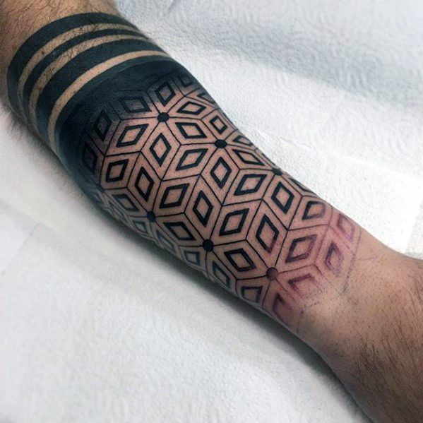 50 Geometric Forearm Tattoo Designs For Men Manly Ideas