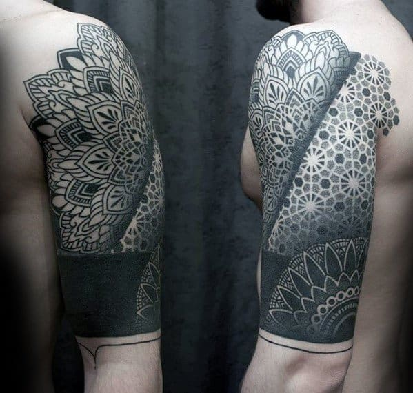 Awesome Geometric Half Sleeve Tattoos For Men