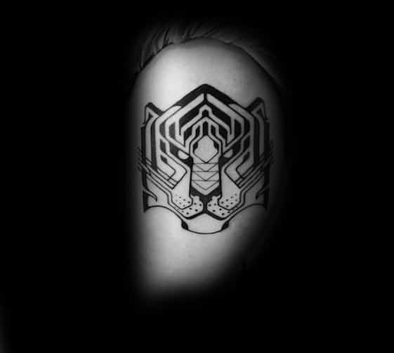 Awesome Geometric Tiger Tattoos For Men
