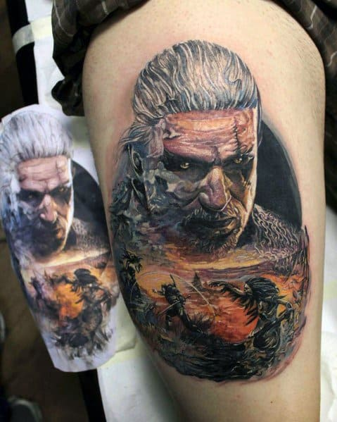 Awesome Geralt Tattoos For Men