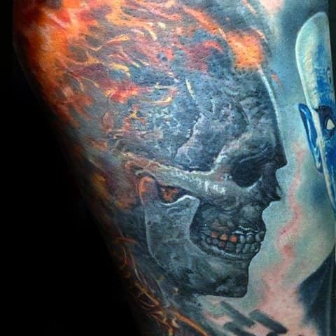 Awesome Ghost Rider Tattoos For Men