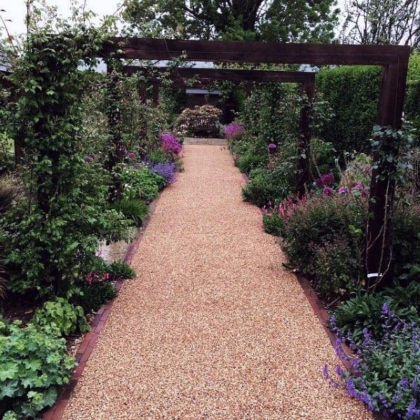 Awesome Gravel Walkway Flower Garden Backyard Ideas