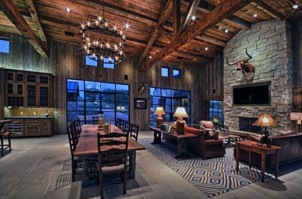 Awesome Great Room Ideas Log Cabin