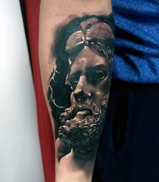 75 hercules tattoo designs for men heroic ink ideas for Kratos tattoo design
