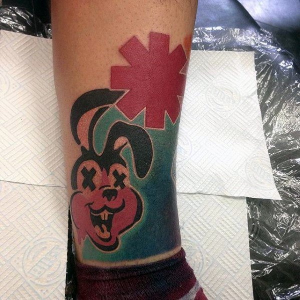 Awesome Green Day Tattoos For Men On Lower Leg