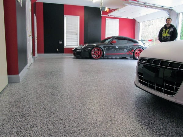 Awesome Grey And Black Garage Floor Coatings
