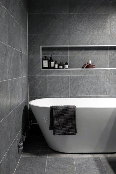 top 60 best grey bathroom ideas  interior design inspiration