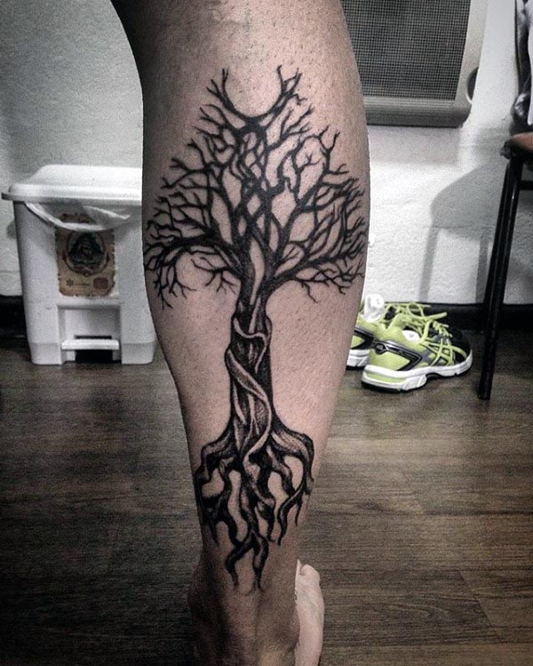 8d579b42d ... Tattoo. Awesome Guys Back Of Legs Tree Of Life Tattoos