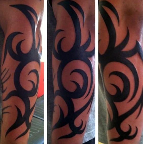Awesome Guys Forearm Tattoos Tribal