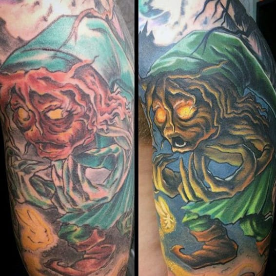 Awesome Guys Half Sleeve Zelda Tattoos