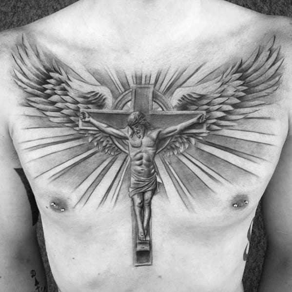 40 Jesus Chest Tattoo Designs For Men - Chris Ink Ideas