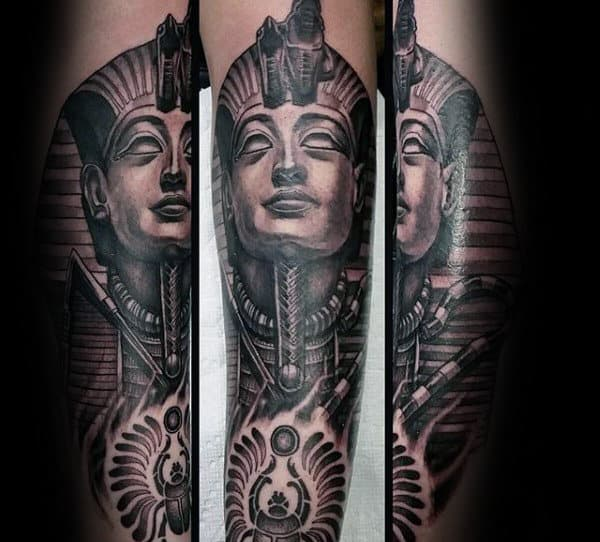 Awesome Guys King Tut Tattoo Sleeve Ideas