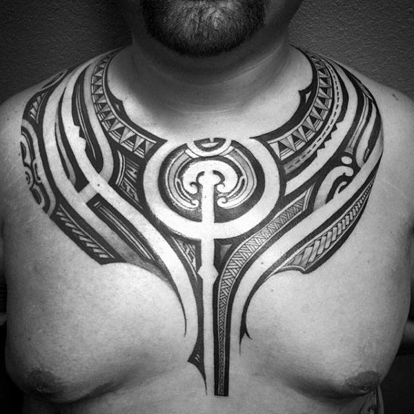 50 polynesian chest tattoo designs for men