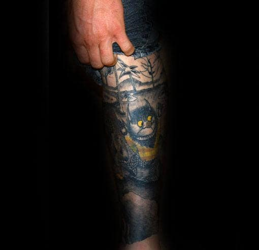 Awesome Guys Where The Wild Things Are Book Tattoo Sleeve Design Ideas