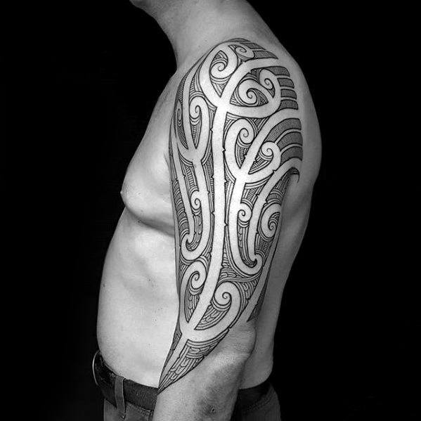 Awesome Half Sleeve Tribal Tattoos Guys
