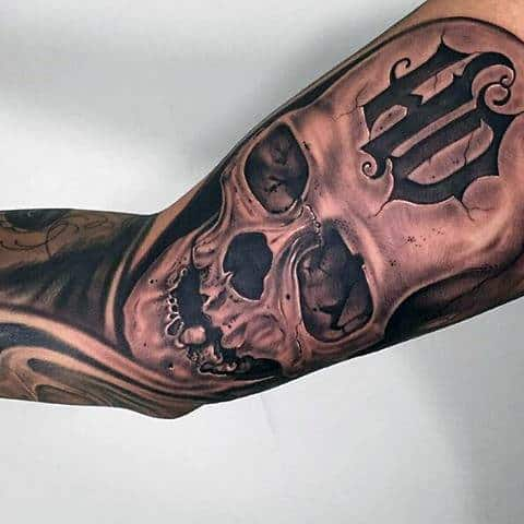Awesome Hd Skull Harley Davidson Tattoo Sleeve For Guys