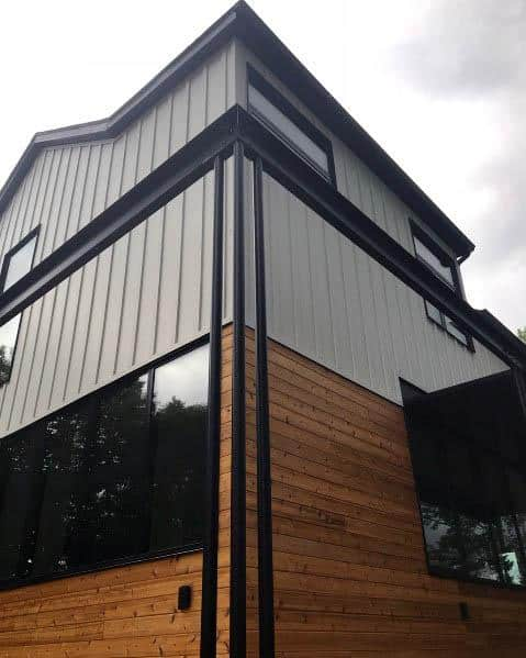 Awesome House Siding Ideas Ipe Wood Board And Metal