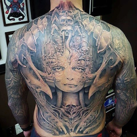 Awesome Hr Giger Tattoos For Men