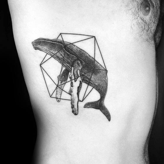 Awesome Icosahedron Tattoos For Men