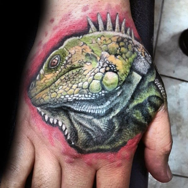 Awesome Iguana Tattoos For Men