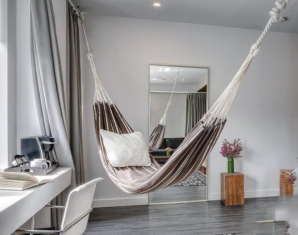 Awesome Indoor Hammock Ideas For Bedroom