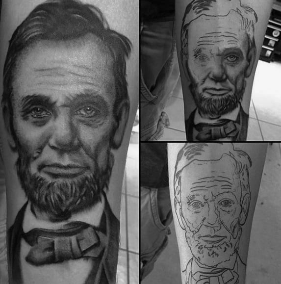 Awesome Ink Abraham Lincoln Tattoos For Men