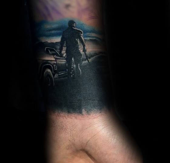 Awesome Ink Mad Max Tattoos For Men Forearm Band