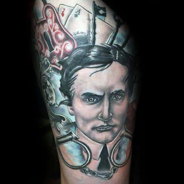 Awesome Ink Magician Thigh Tattoos For Men