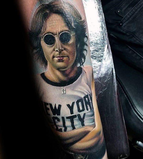 Awesome John Lennon Beatles Tattoos For Men