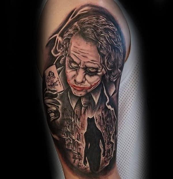 Awesome Joker Half Sleeve Mens Tattoos