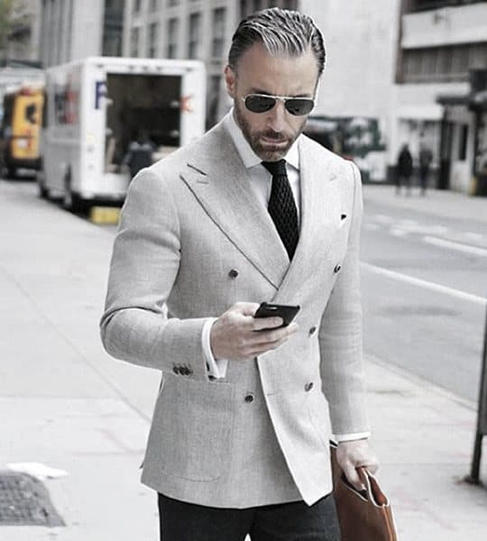 Awesome Light Grey Suit Styles For Men