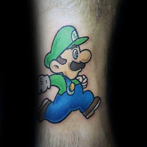40 Luigi Tattoo Ideas For Men Mario Bros Designs Obsigen