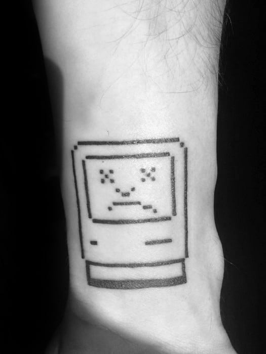 Awesome Mac Computer Tattoos For Men