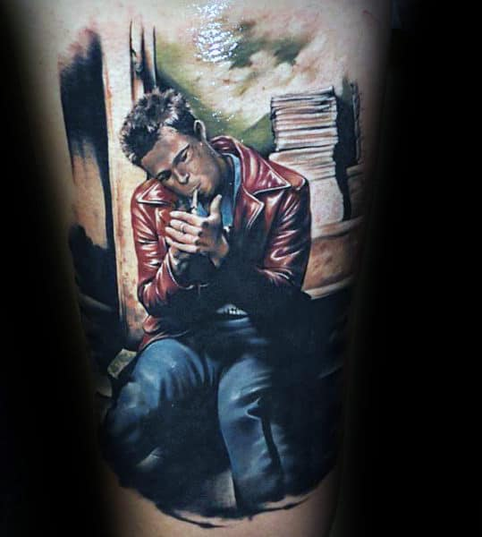 Awesome Male Fight Club Tattoo On Arm