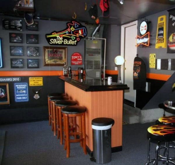 Top 40 Best Home Bar Designs And Ideas For Men: 50 Garage Paint Ideas For Men