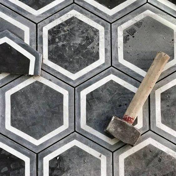 Awesome Man Cave Decor Honeycomb Flooring