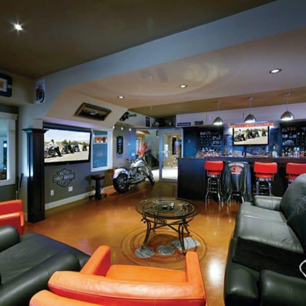 Man Cave Interior Ideas : Awesome man caves for men masculine interior design ideas