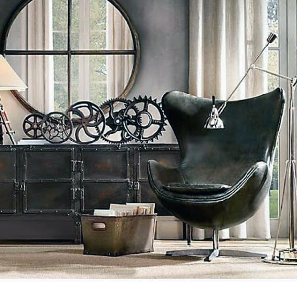 Awesome Man Cave Furniture Chair Inspiration Black Leather